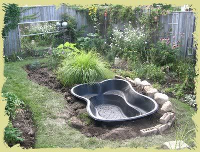 Zahradn jez rka inspirativn cz for Cheap backyard pond ideas