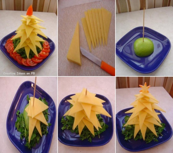 Christmas-tree-plate-arrangement-from-cheese-585x519