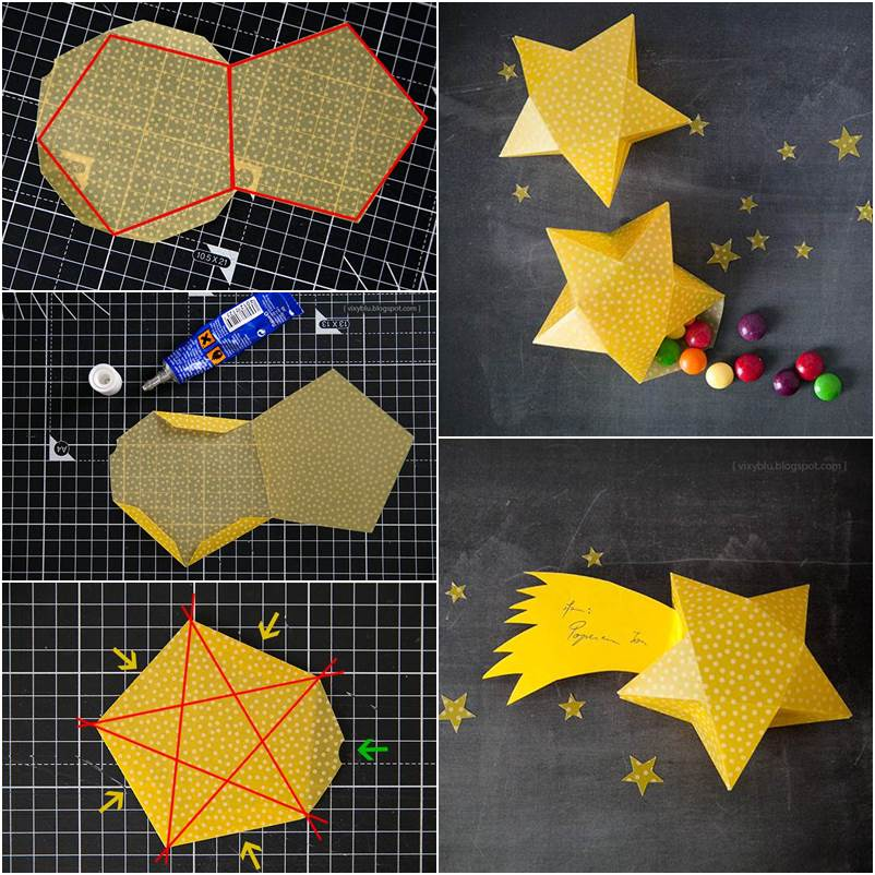 How-to-DIY-Cute-Simple-3D-Star-Gift-Box