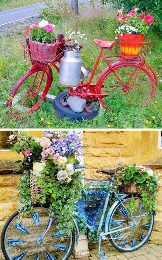 24-Creative-Garden-Container-Ideas-Bicycle-Planters-2