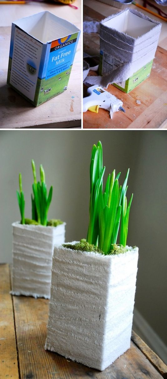 24-Creative-Garden-Container-Ideas-Cute-planter-made-out-of-a-milk-carton-20