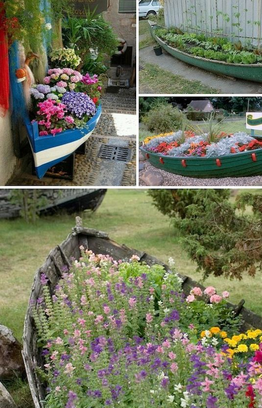 24-Creative-Garden-Container-Ideas-Old-boats-as-planters-23