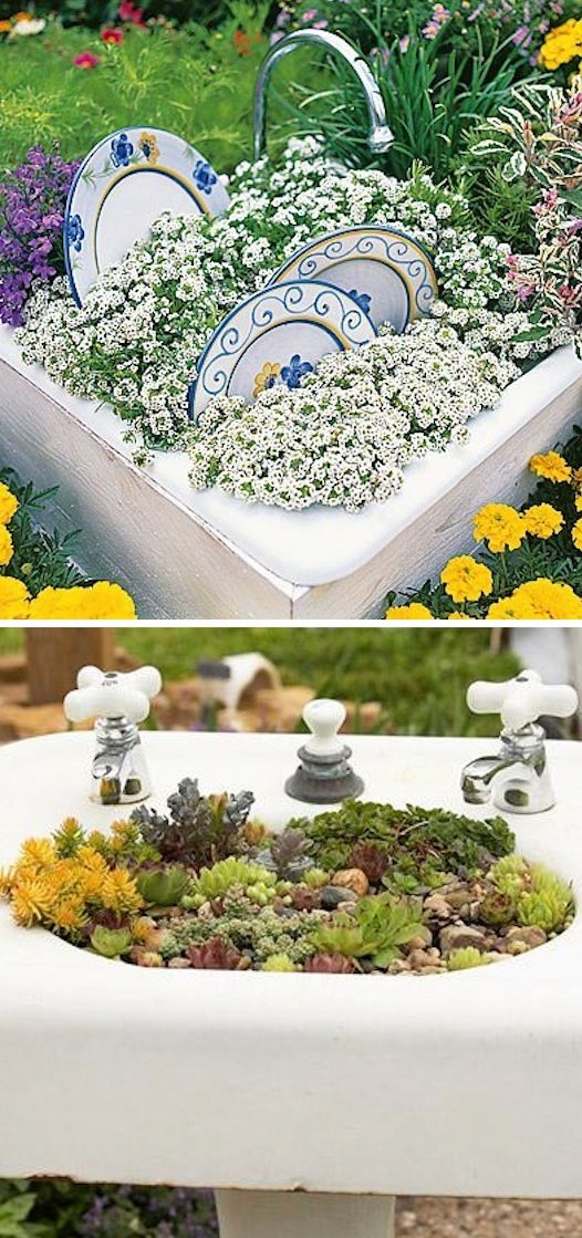 24-Creative-Garden-Container-Ideas-Sink-planters-6