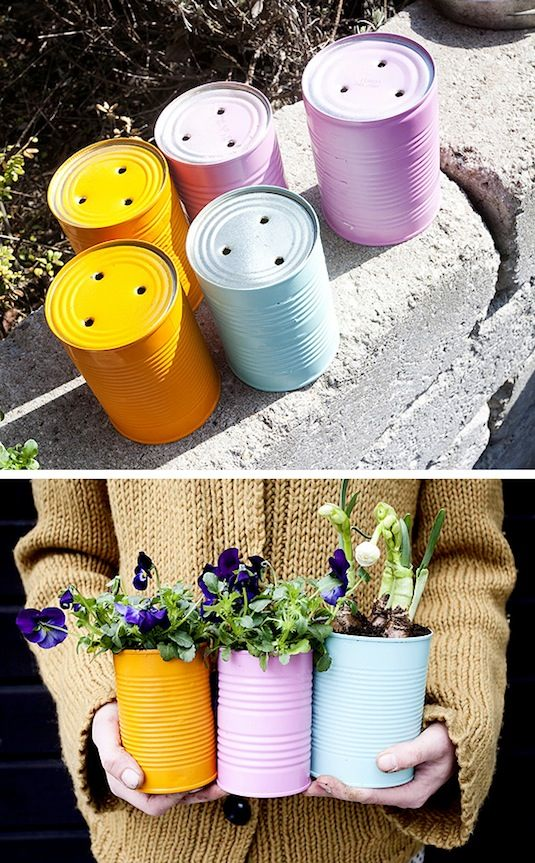 24-Creative-Garden-Container-Ideas-Tin-can-planters-14
