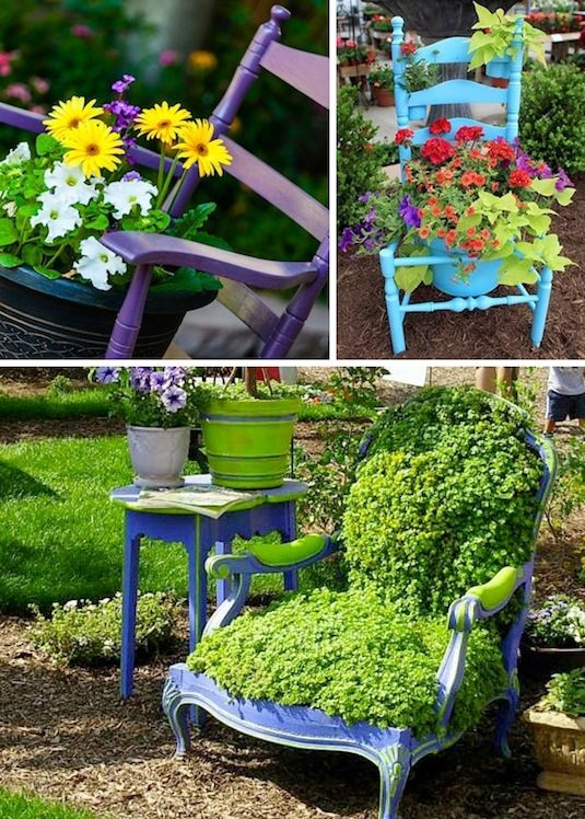 24-Creative-Garden-Container-Ideas-Use-chairs-as-planters-and-garden-display-18