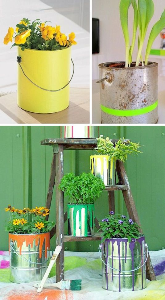 24-Creative-Garden-Container-Ideas-Use-paint-cans-as-planters-13