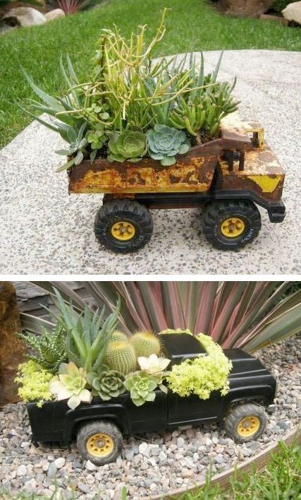 24-Creative-Garden-Container-Ideas-Use-toy-trucks-as-planters-11
