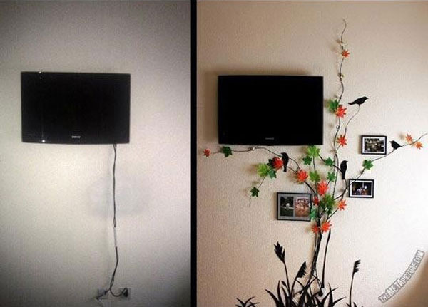 20-Simple-and-Ingenious-DIY-Projects-That-Will-Hide-Your-Wires-Into-Wall-Art-Ideas-to-Hide-Wires-homesthetics-decor-16