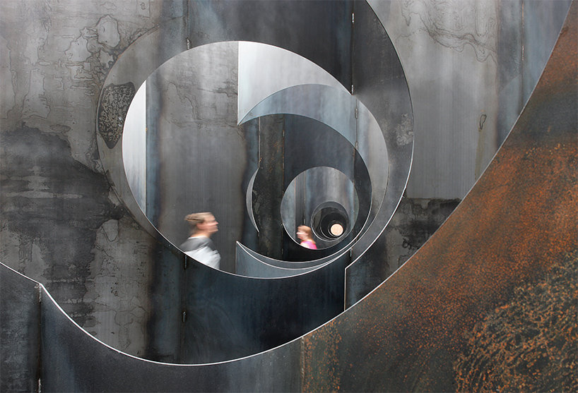 gijs-van-vaerenbergh-builds-sculptural-steel-labyrinth-at-former-coal-mine-designboom-02